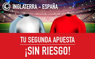 sportium promocion Inglaterra vs España 8 septiembre