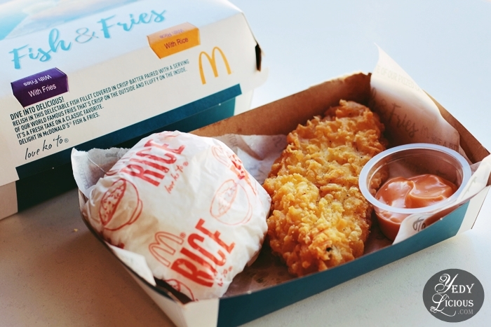 McDo Fish & Fries is Back This 2018 at McDonald's Philippines, McDo Fish and Fries 2018, McDonald's Philippines Fish & Fries Rice Price Blog Review Price YedyLicious Manila Food Blog, McDonalds Fish and Chips, McDo Fish Fillet and Rice, McDo Fish Fillet Price, McDo Fish and Fries Calories, McDo Online Delivery Website Hotline Facebook Instagram Twitter Best Top Food Blog McDonald's Manila Philippines