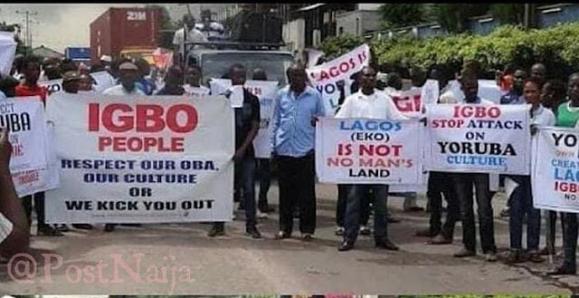 Create Ya Own Lagos Yorubas Protest Against Igbo For Disrespecting Their Culture