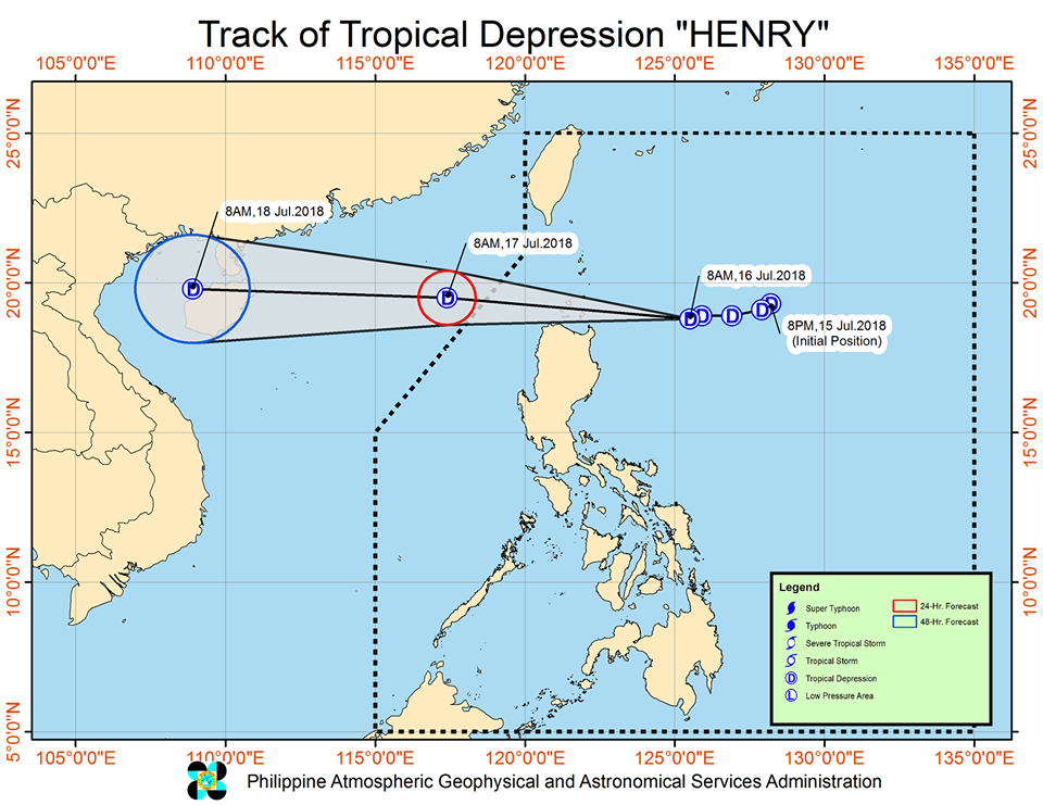 'Bagyong Henry' PAGASA weather update July 16, 2018