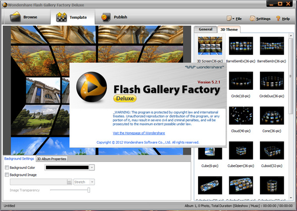 photo gallery html template free download - wondershare flash gallery factory deluxe 5 2