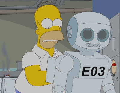 simpsons episode gay robot