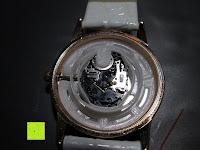 Uhr ausbauen: Ostan Damen Uhren Mode Weiß Leder Runde Zifferblatt mit Zirkonia Armkette Armband Armbanduhr Uhr