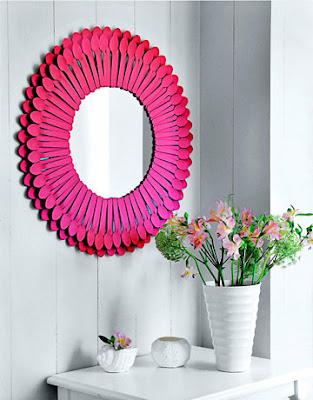 15 вариантов самодельного декора зеркал от fljuida.com 10