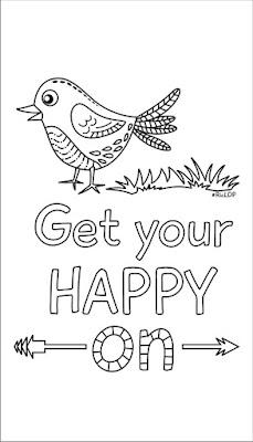 get your happy on bird doodle