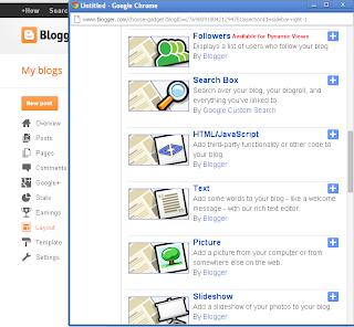 Select HTML/Javascript Gadget
