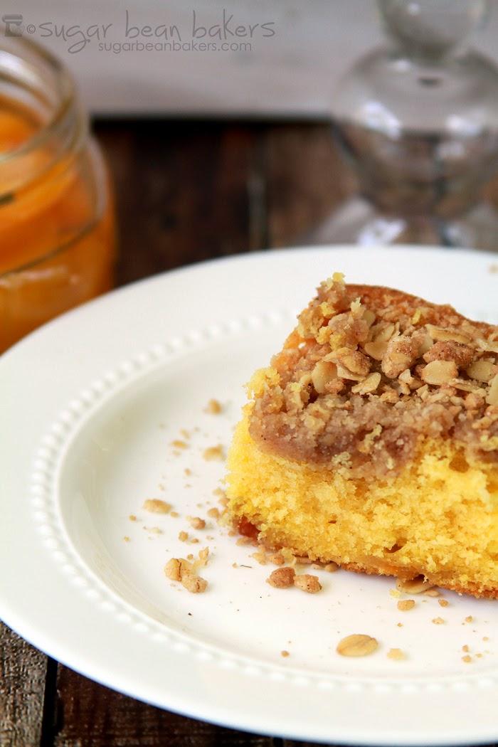 Peach Coffee Cake With Reduced Sugar