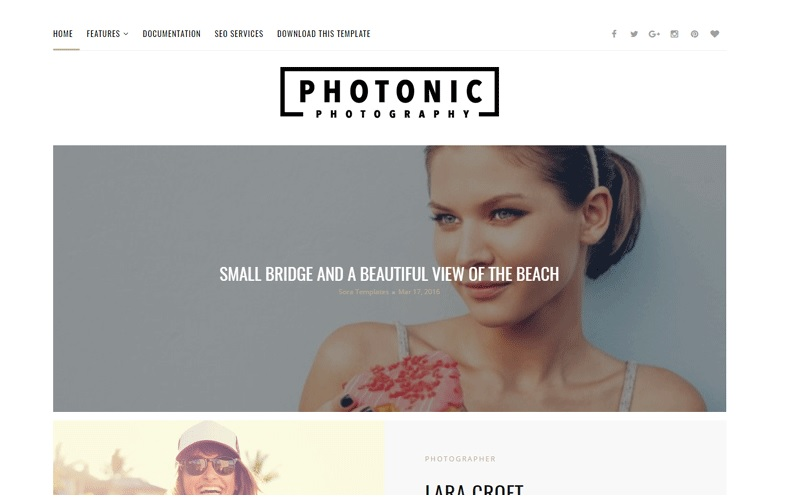 Photonic Responsive Photography Blogger Template Free Download