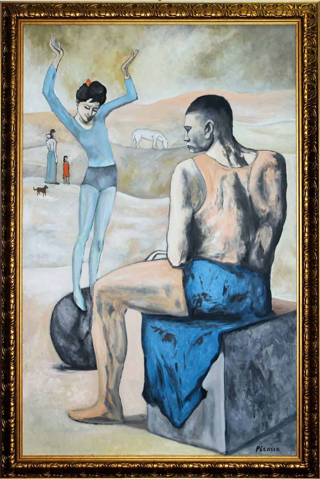 Картинки пабло пикассо девочка на шаре