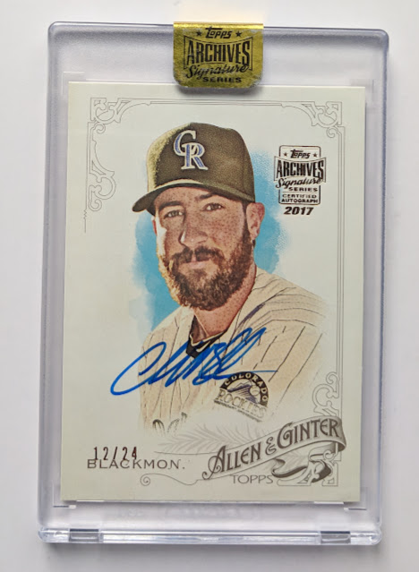 Baseball Card Breakdown Just A Boring Old Charlie Blackmon 1224 Auto
