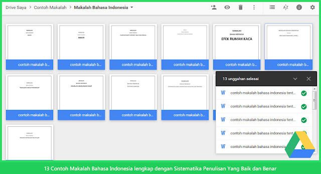 13 Contoh Makalah Bahasa Indonesia lengkap dengan Sistematika Penulisan Yang Baik dan Benar