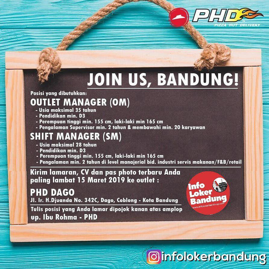 Lowongan Kerja PHD Bandung Maret 2019