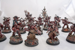 Word bearers chaos space marines including special weapons and champions