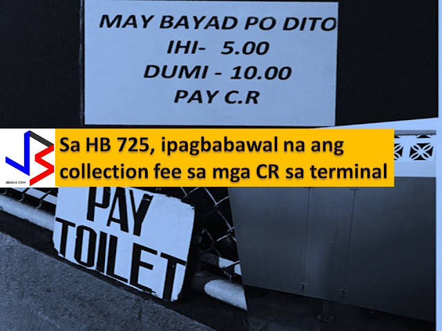While traveling it is common to see toilets or comfort rooms in terminals collecting small fees when you use it. There is public toilet imposing a P10.00 fee when you pee and P15.00 when you poo and P25,000 when you take a shower.