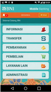 cara ganti password transaksi bni mobile banking