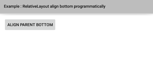 Programmatically align a view to the bottom of a