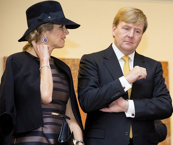 King Willem-Alexander and Queen Maxima will visit the exhibition in preparation for the state visit to Australia and New Zealand, NATAN Dress and Jacket