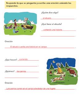 Respuestas Apoyo Primaria Español 2do grado Bloque 1 lección 9 El sujeto de la oración