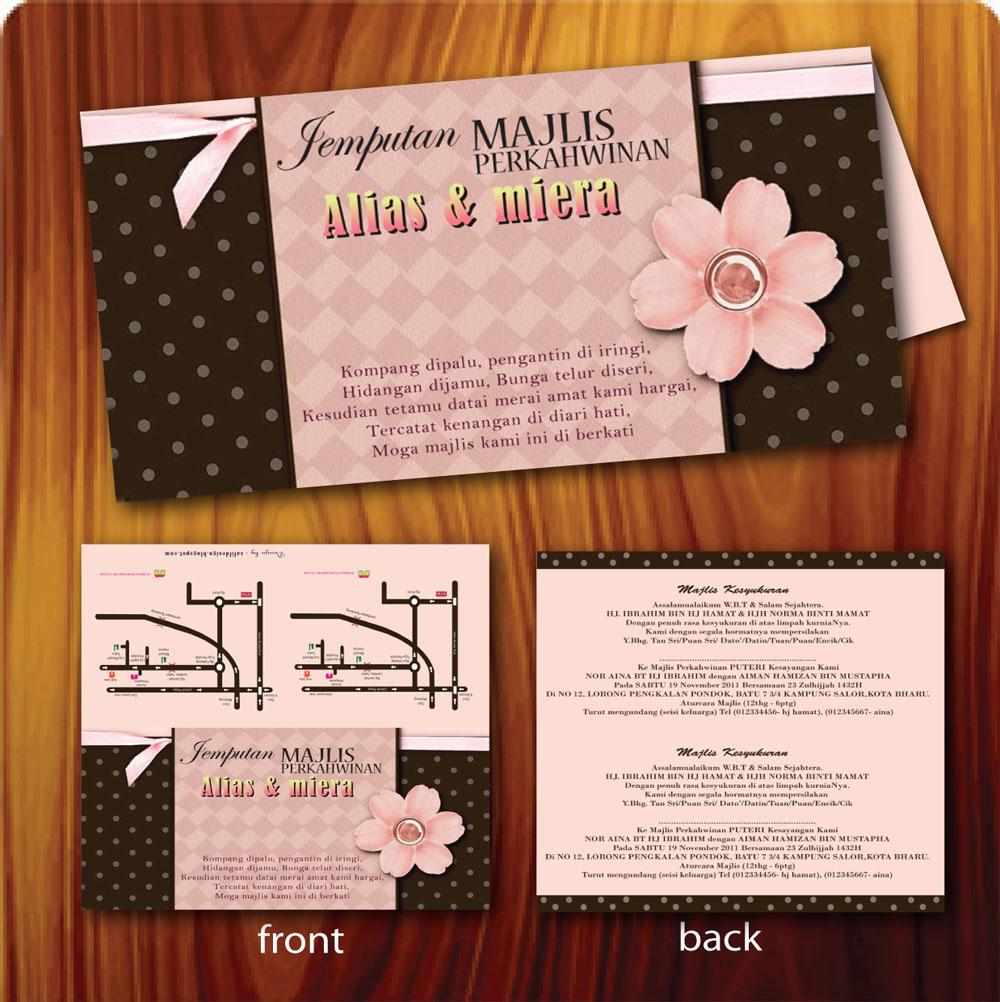 Tempahan Design Online Contoh Kad Kahwin