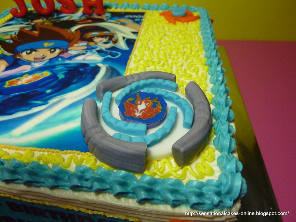 Cakes2share singapore world of metal fight beyblade for Anime beyblade cake topper decoration set