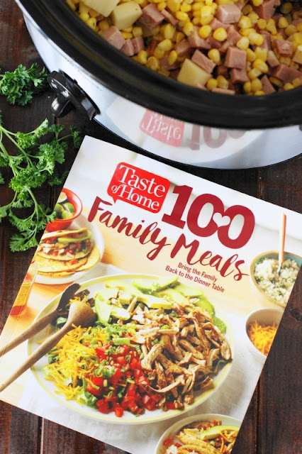 """Slow Cooker Ham & Corn Chowder from Taste of Home's """"100 Family Meals"""" cookbook."""