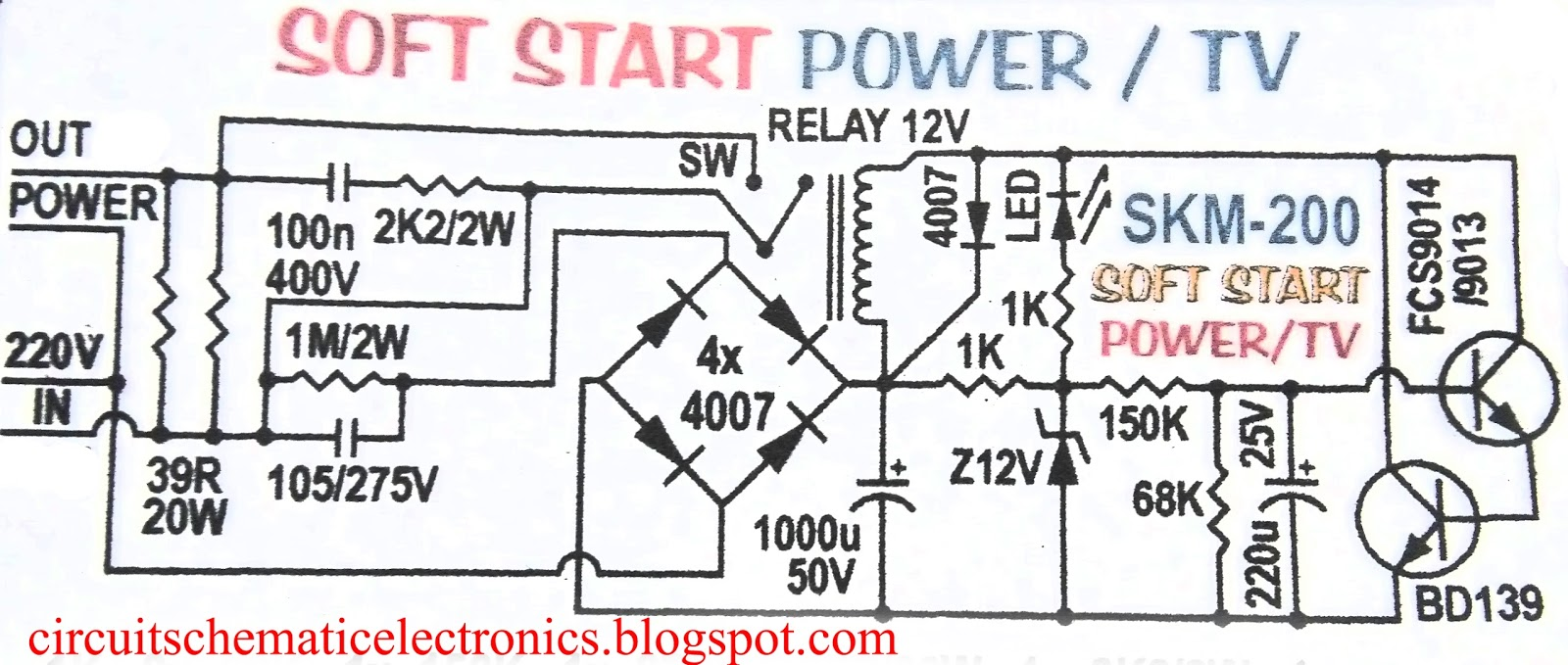 Auto soft start for electronic device circuit