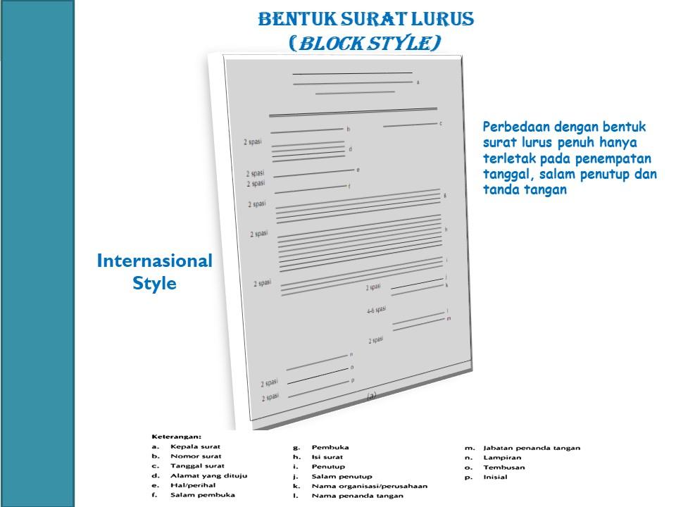 Let Us Study Bentuk Surat Lurus Block Stylesurat