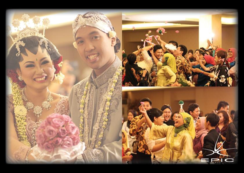 Peristiwa lempar bunga pada saat pesta pernikahan