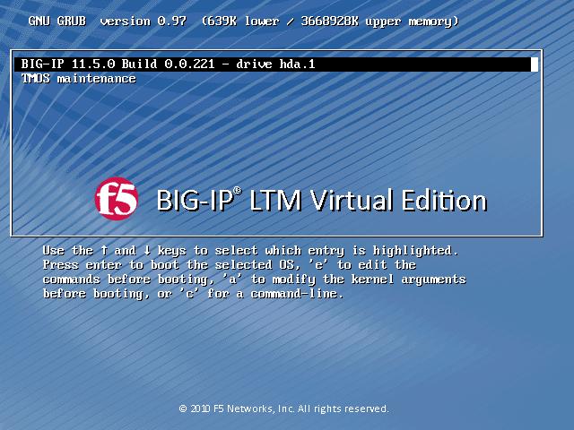 F5 LTM Virtual Edition in Virtualbox - root9 net