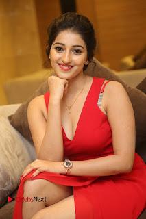 Actress Mouryani Stills in Red Dress at Intlo Deyyam Nakem Bhayam Trailer Launch  0141