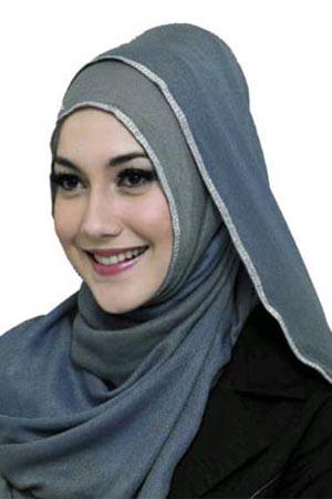 model Jilbab Untuk Wajah Bulat modern