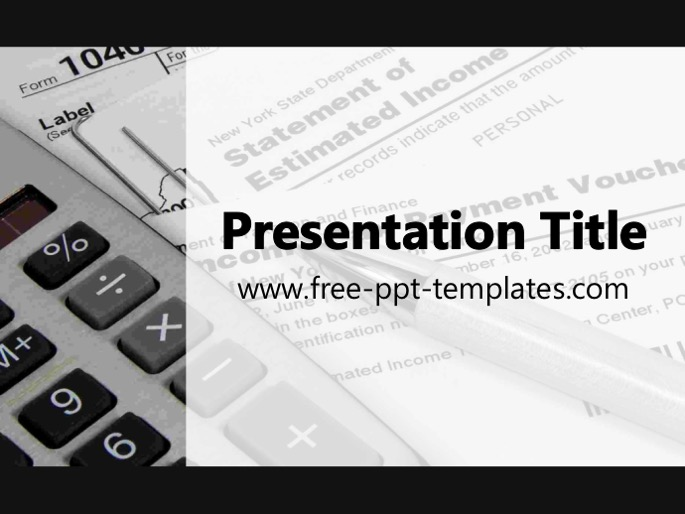 and white powerpoint template