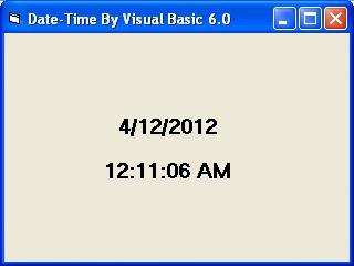 Membuat Tanggal Dan Jam menggunakan Visual Basic 6.0