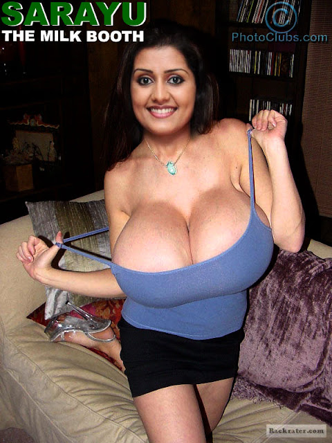 Sarayu milky boobs huge melon milk tank nude cleavage photo removing her top