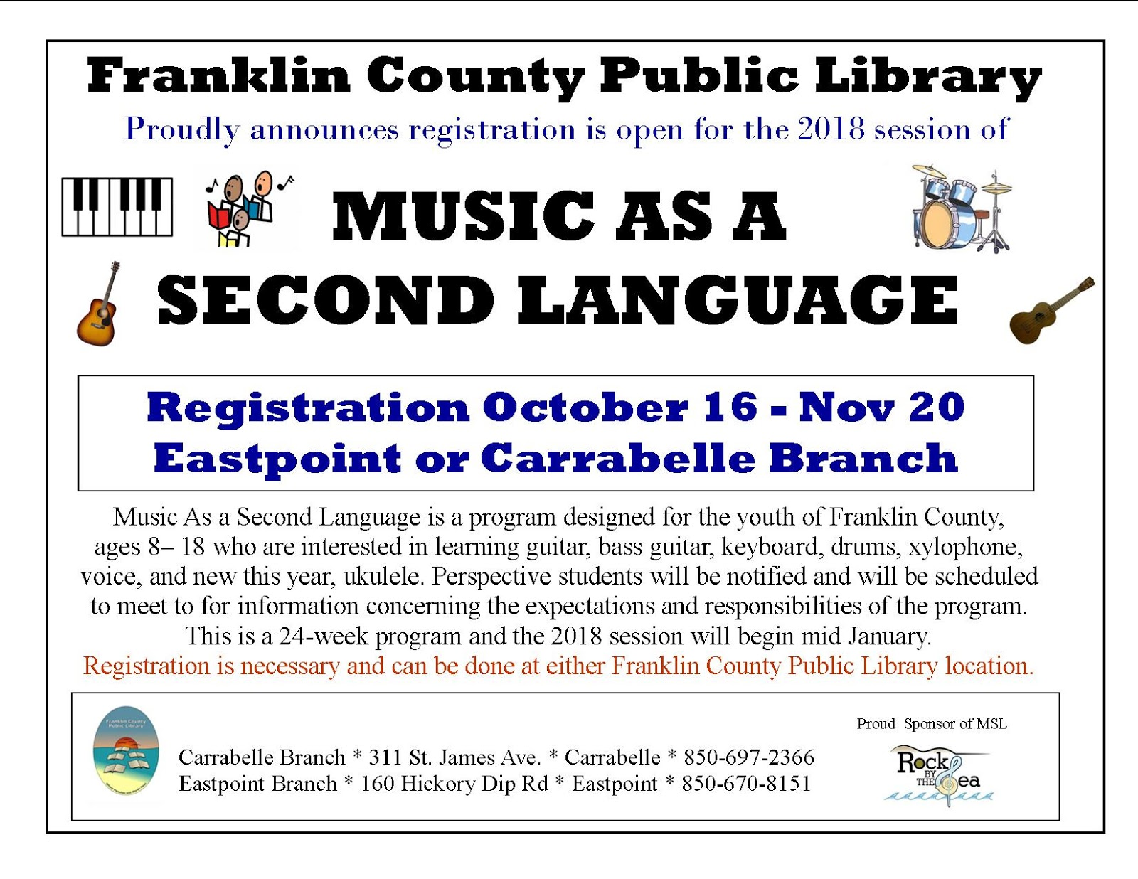 Franklin County Library Offers Music As A Second Language