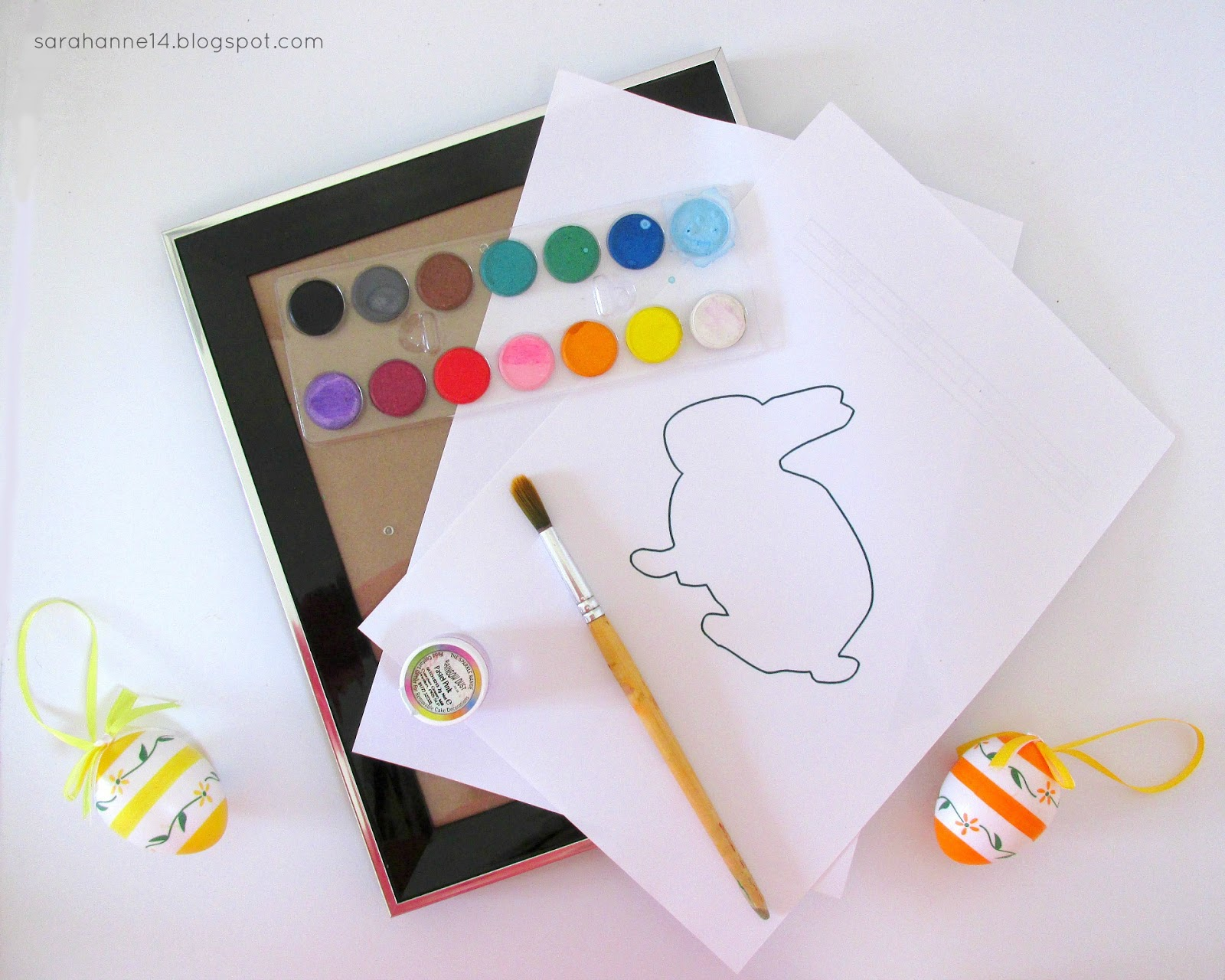 Easter & Spring Watercolour Bunny DIY