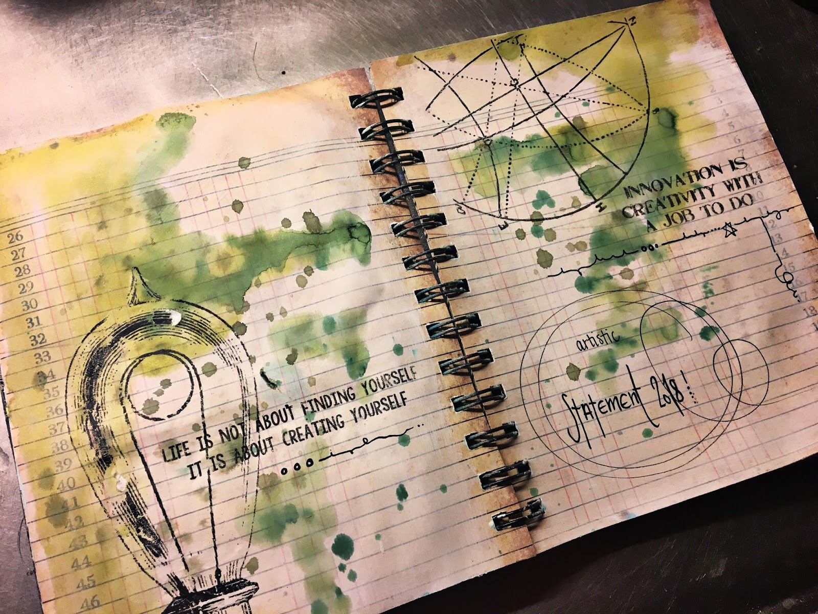 Create without limits beginning of 2018 art journals i have been working with the 7gypsies architextures parchment rub ons on this spread and really love how it turned out please visit the canvas corp brands gumiabroncs Gallery