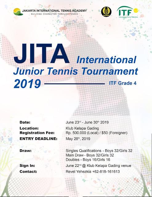 Jakarta International Tennis Academy Gelar Turnamen ITF Junior Internasional