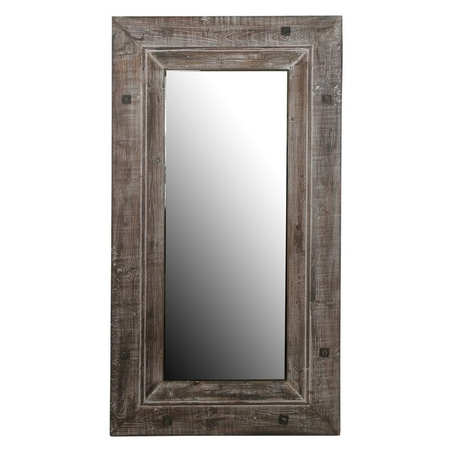 Reclaimed wood rustic wall mirror