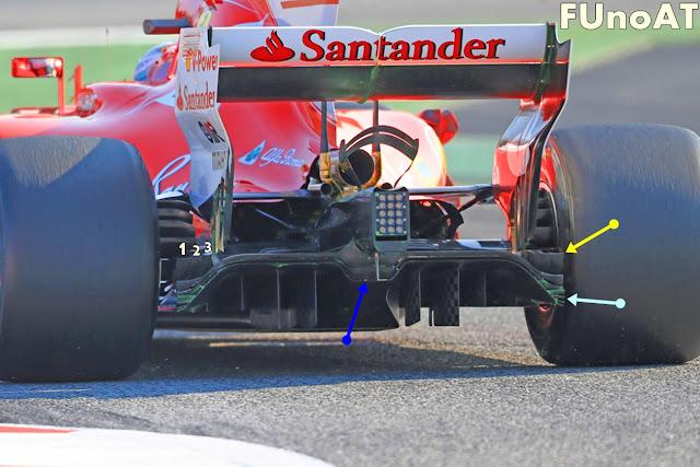Immagine 1 - Il diffusore della Ferrari SF70H