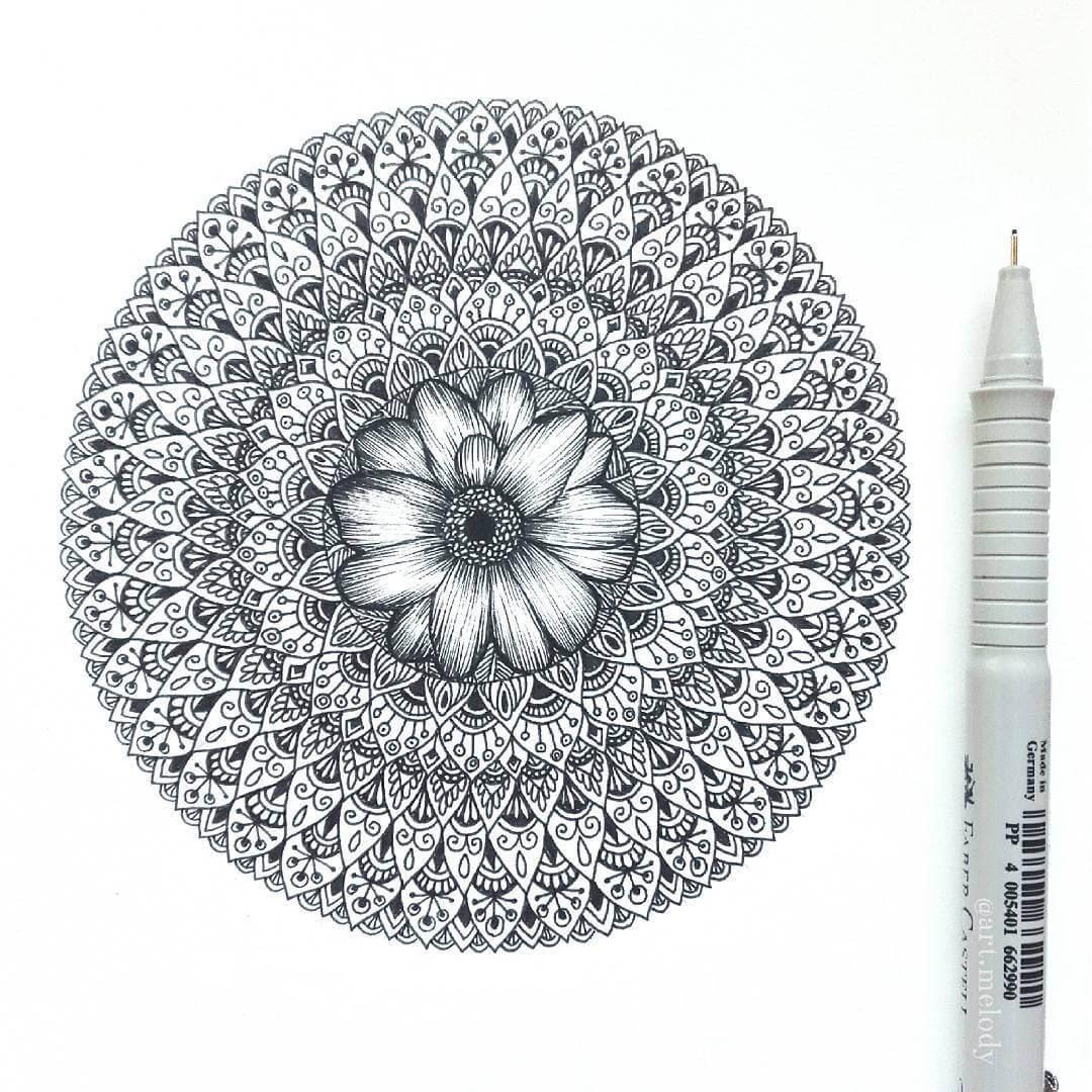 09-Flower-Gyöngyi-Szabó-Bright-and-Colorful-Mandala-Drawings-www-designstack-co