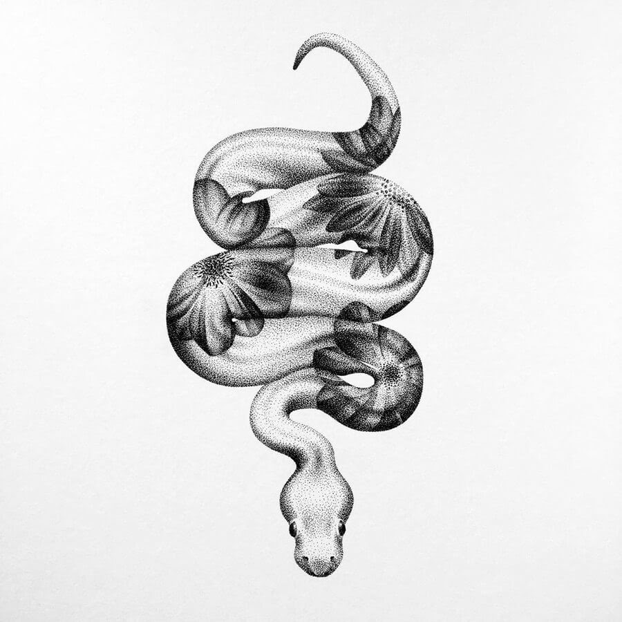 01-Flower-snake-Nelly-Todorova-www-designstack-co