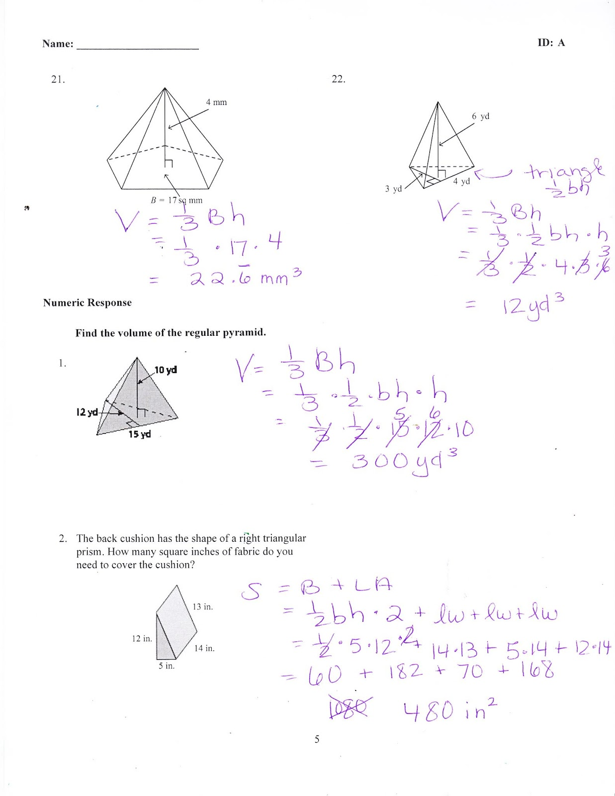 Ms. Jean's Classroom Blog: Chapter 9 Practice Test Answers