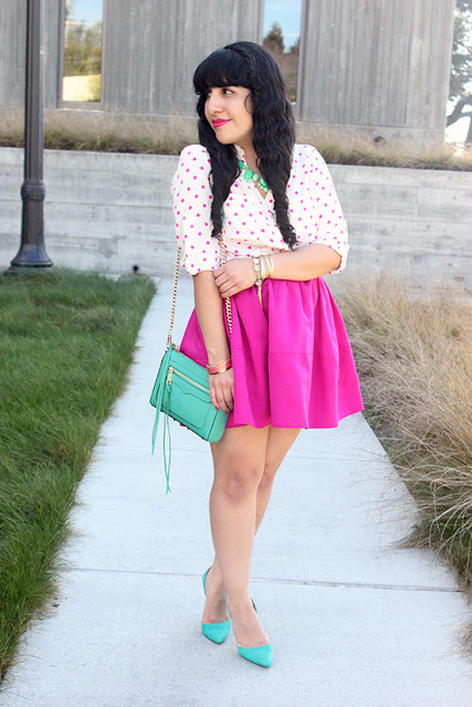 Pink and Mint Spring Work Outfit Inspiration