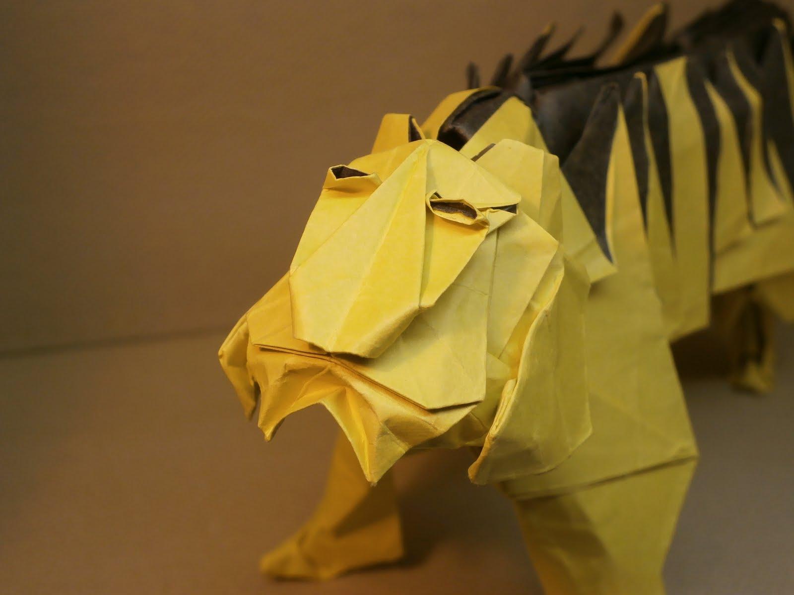 "KATAKOTO ORIGAMI: Tiger from ""Works of Hideo KOMATSU"" - photo#25"