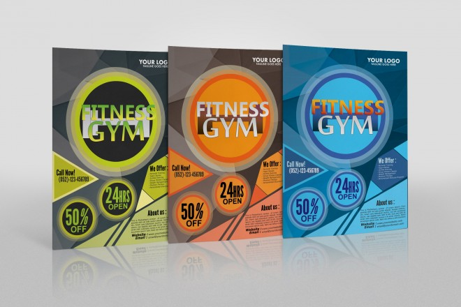 Free Fitness Gym - Fitness Flyer Design