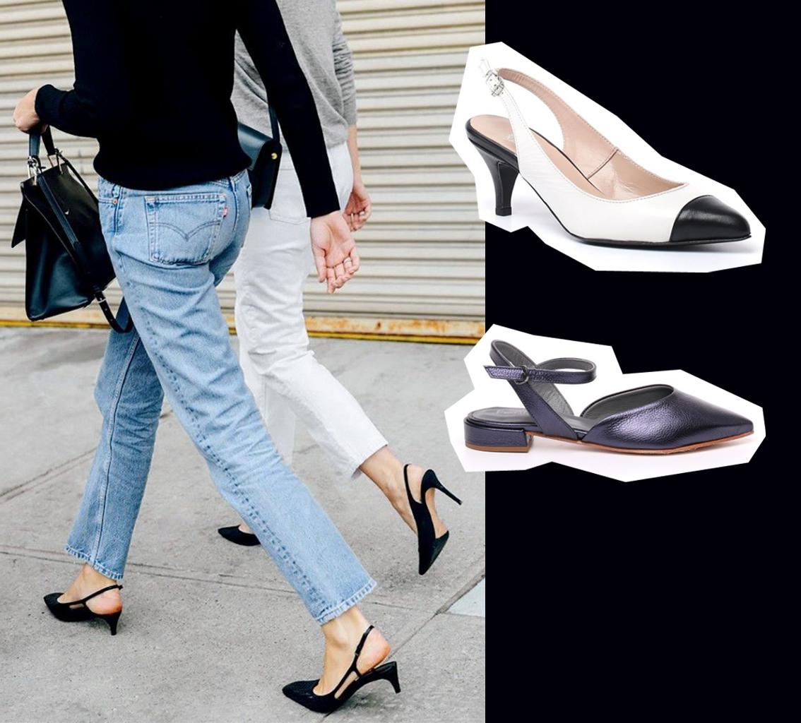 scarpe aperte dietro slingback street style