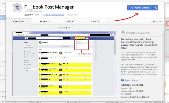 cara menghapus status facebook otomatis