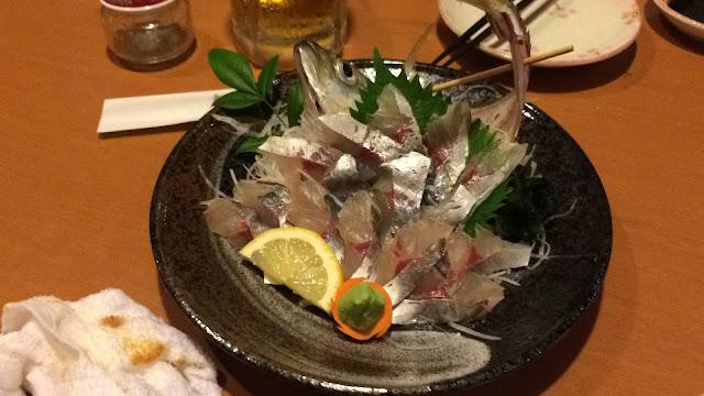 延岡市の名店!居酒屋七万石へ アジ 鯵【宮崎観光】