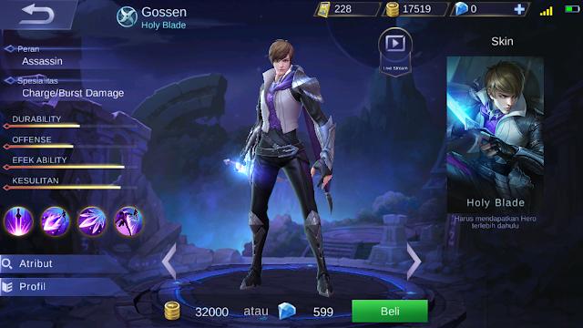 Gossen Mobile Legends Hero